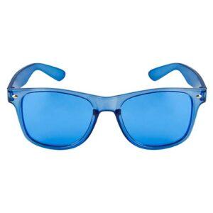LEN 006 A lentes maroni color azul