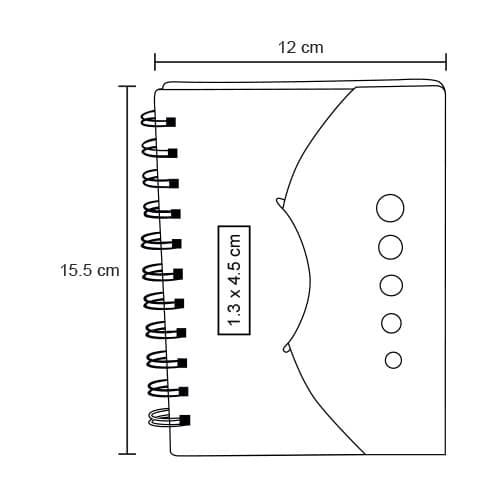 Libreta de papel reciclado con notas-2