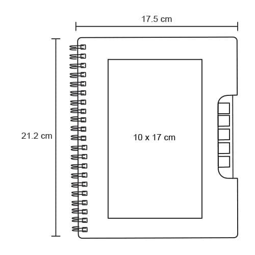 Libreta ecológica con 5 tiras de-3