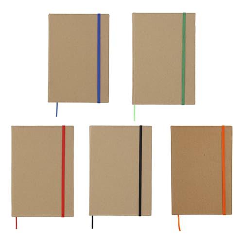Libreta ecológica con banda elástica