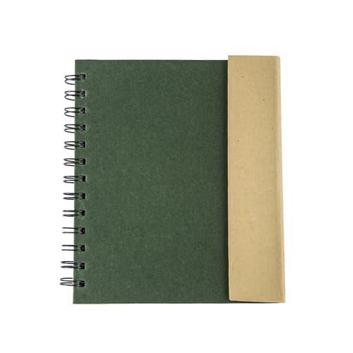 Libreta ecológica de cartón con espiral