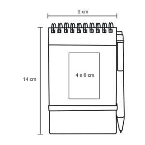 Libreta pocket de papel reciclado y-5