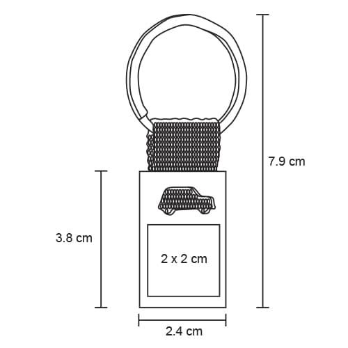 Llavero metálico con figura de auto y-4