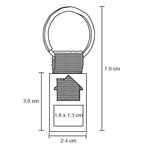Llavero metálico con figura de casa y-4