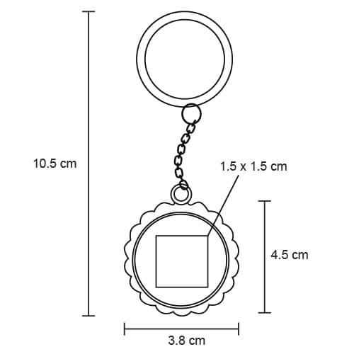 Llavero metálico destapador en forma de-2