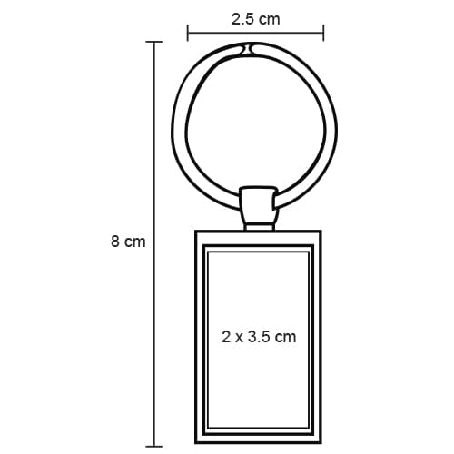 Llavero metálico rectangular.-2