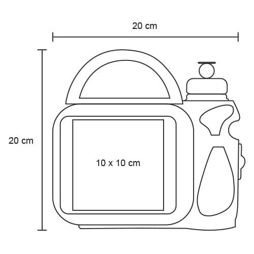 Lonchera de plástico con cilindro. Cap.-7