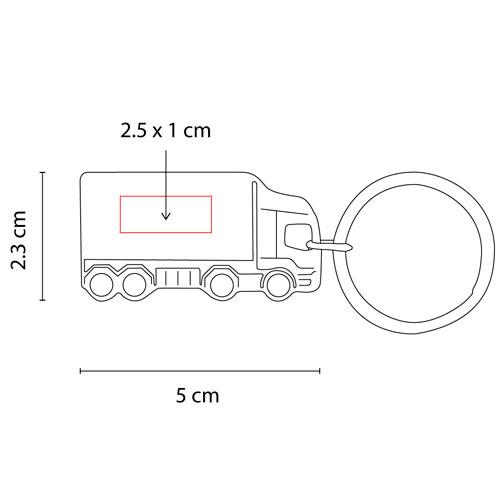 M 63271 S llavero camion etretria color plata 3