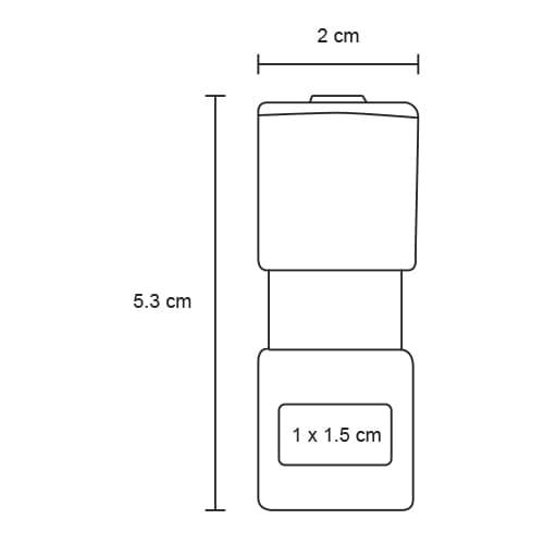 Memoria USB de acrílico transparente con-2