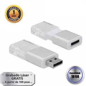 Memoria USB de acrílico transparente con