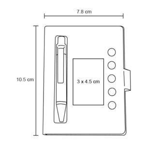 Mini libreta de papel reciclado con-2
