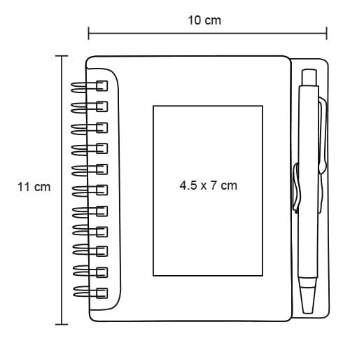 Mini libreta de plástico