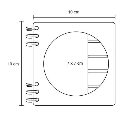 Mini libreta ecológica con 5 tiras de-2