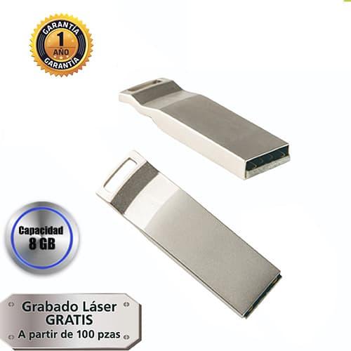 Mini memoria USB con cuerpo metálico.