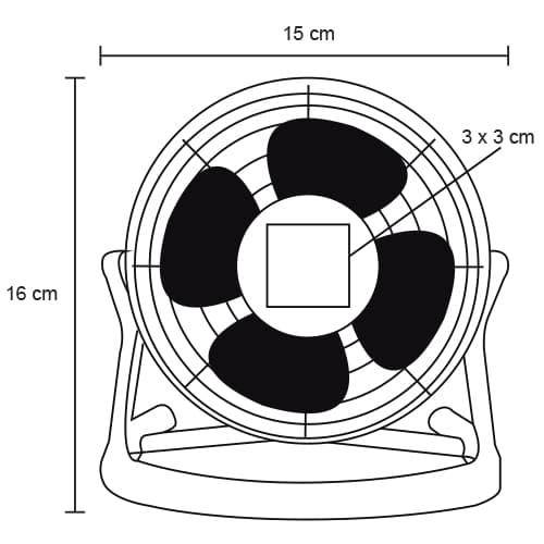 Mini ventilador de escritorio con-2