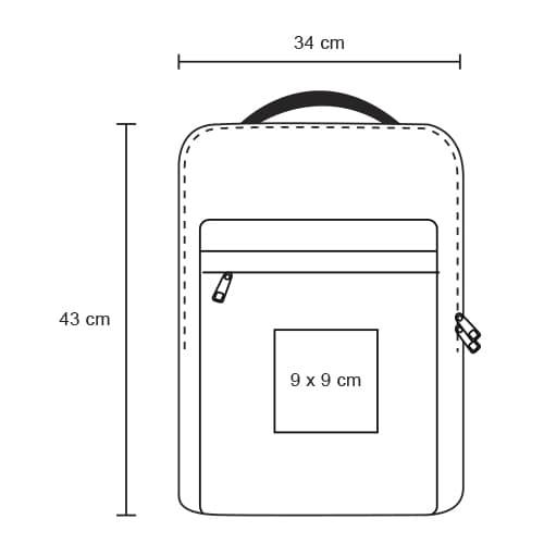 Mochila impermeable con 2-6