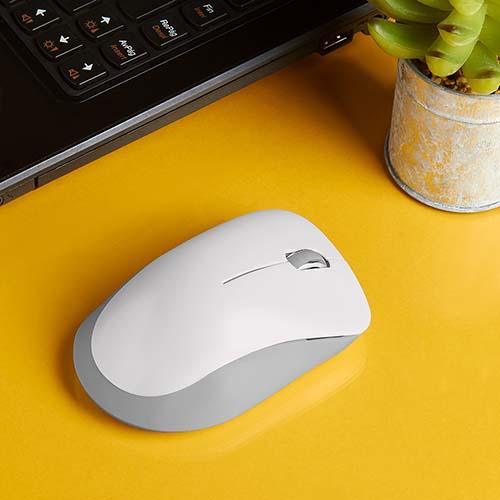 MOU 080 B mouse inalambrico nekar color blanco 2
