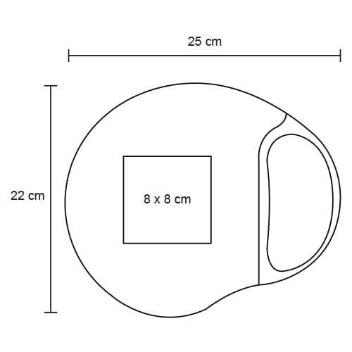 Mousepad ergonómico con descansador de-2