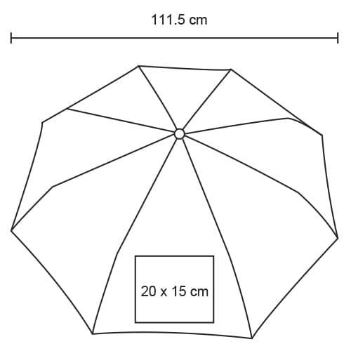 Paraguas automático con mango de-6