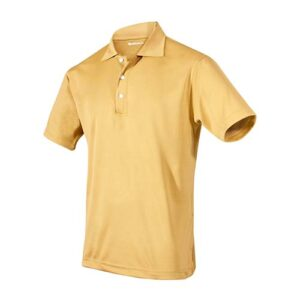 PLY 004 D-M playera clasbent dorado para caballero talla mediano