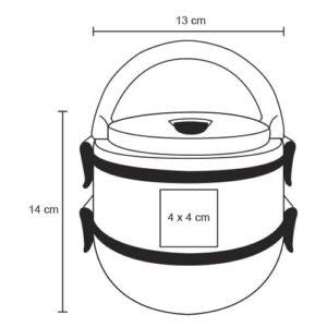 Portavianda con dos recipientes de acero-2