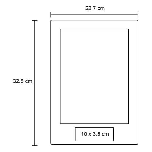 Reloj de pared rectangular. Utiliza-2