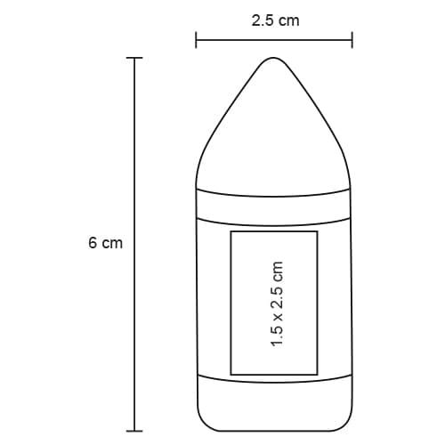 Sacapuntas de plástico con goma-5