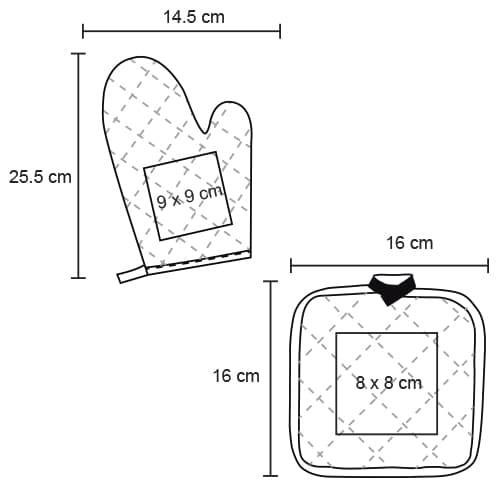 Set de guante y sujetador de utensilios-3