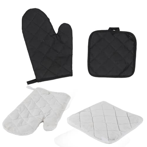 Set de guante y sujetador de utensilios