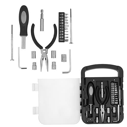 Set de herramientas. Contiene pinzas de