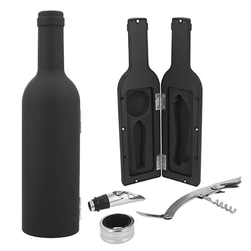 Set de vino con acabado rubber. Incluye