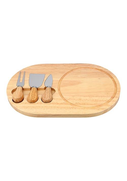 Set para quesos con tabla ovalada de