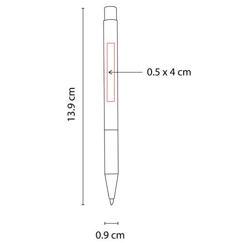 SH 8015 S boligrafo funchal color plata 2