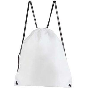 SIN 021 B bolsa mochila prisma color blanca