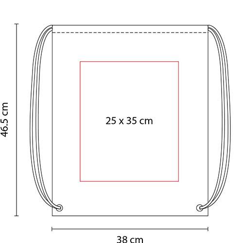 SIN 021 R bolsa mochila prisma color rojo 3