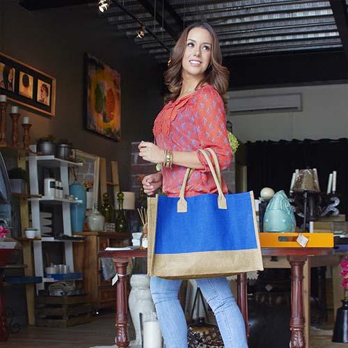 SIN 062 A bolsa torba color azul 2
