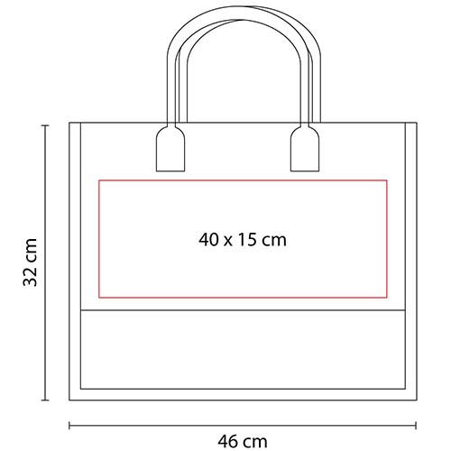 SIN 062 R bolsa torba color rojo 3