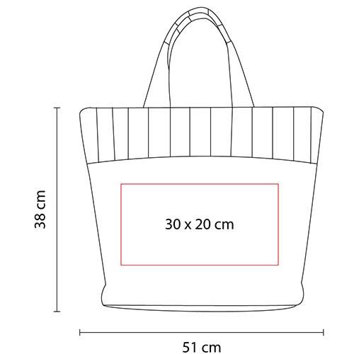 SIN 065 P bolsa mallorquin color rosa 2