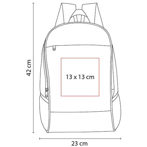 SIN 079 R mochila alshain color rojo 2