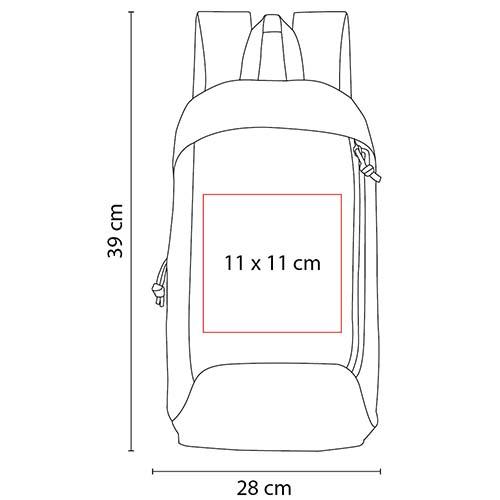 SIN 098 O mochila aunat color naranja 3