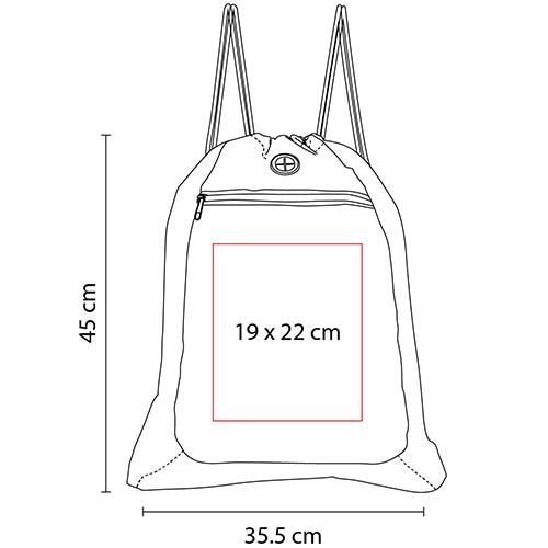 SIN 102 R bolsa mochila sunet color rojo 2