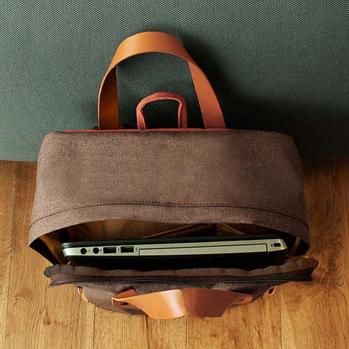 SIN 115 C mochila portafolio daro color cafe 7
