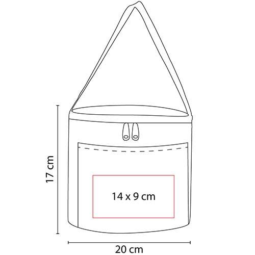 SIN 124 R lonchera jesel color rojo 2