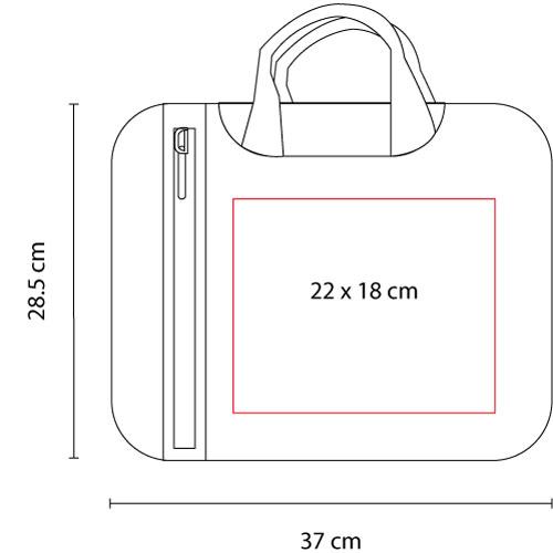 SIN 136 R porta laptop danuvio color rojo 3