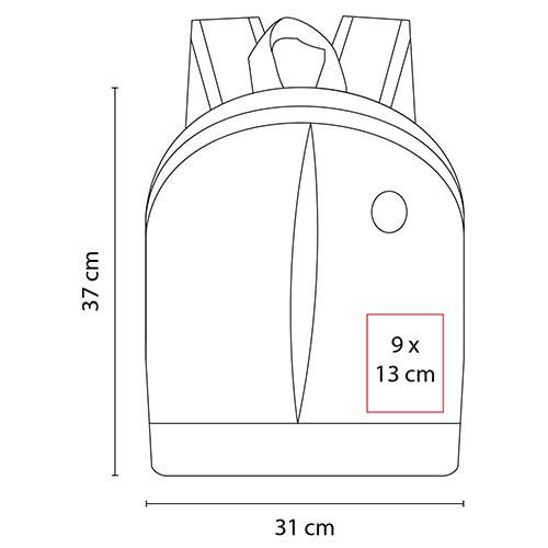 SIN 148 R mochila keit color rojo 3