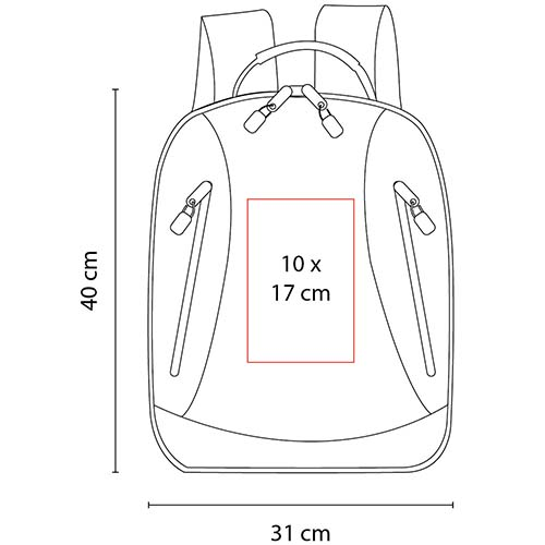 SIN 149 R mochila neveri color rojo 2