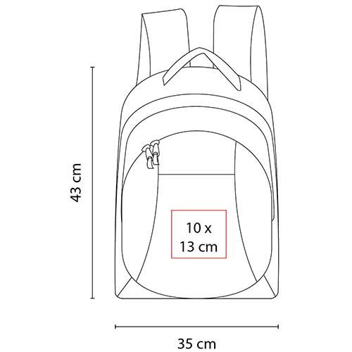 SIN 159 R mochila cambridge color rojo 2