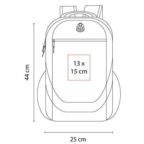 SIN 208 R mochila algarve color rojo 3