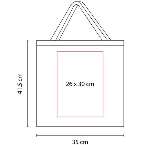 SIN 210 R bolsa cotton slim color rojo 2