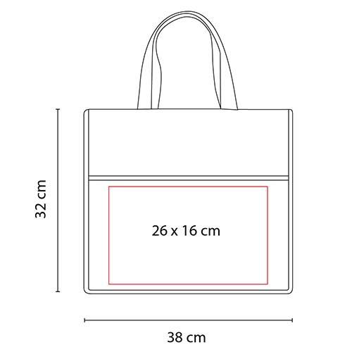 SIN 340 R bolsa tasu color rojo 2